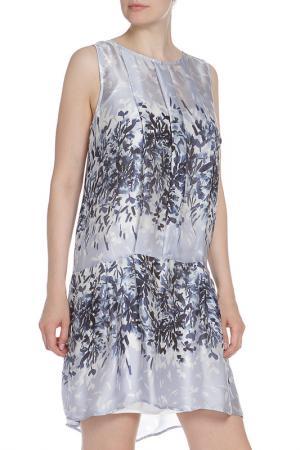 Платье со складками по горловине Liu Jo. Цвет: голубой