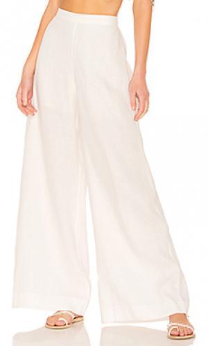 Широкие брюки lovelorn Zimmermann. Цвет: ivory