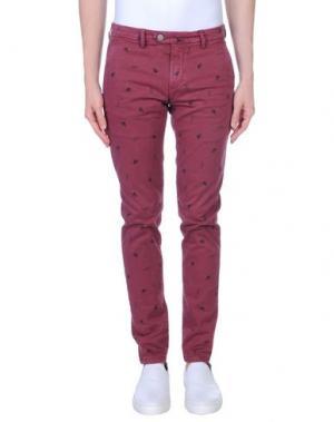 Повседневные брюки TAKESHY KUROSAWA. Цвет: красно-коричневый