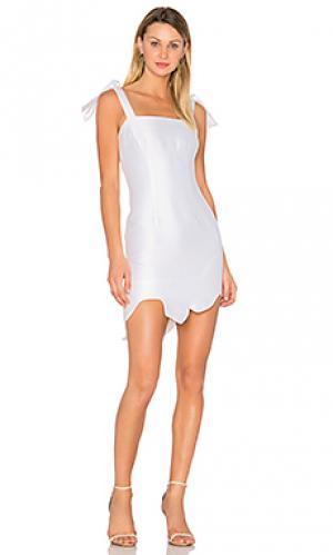 Мини платье с завязкой kia By Johnny. Цвет: белый