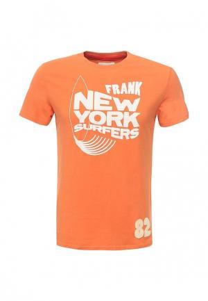 Футболка Frank NY. Цвет: оранжевый