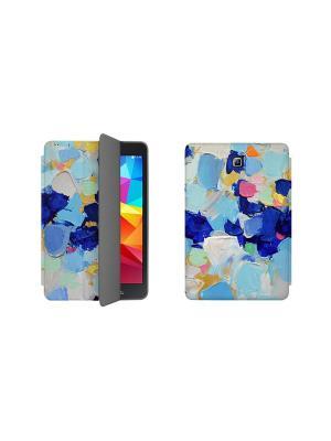 Дизайнерский чехол-книжка для Samsung Galaxy Tab A 8.0. Мазки With Love. Moscow. Цвет: белый