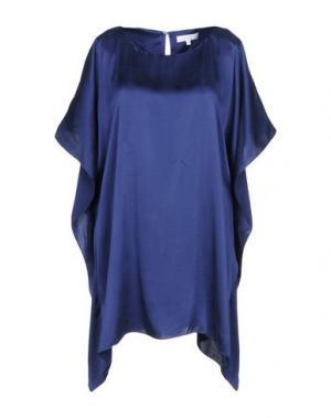 Короткое платье CA' VAGAN. Цвет: темно-синий