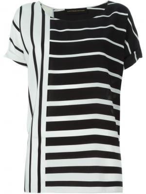 Блузка с принтом Alexandre Vauthier. Цвет: чёрный