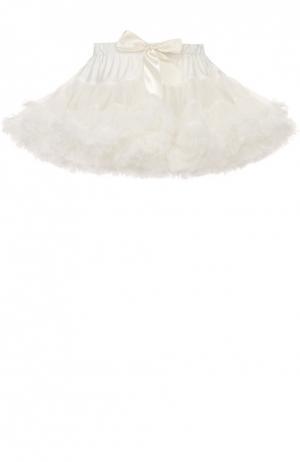 Многоярусная пышная мини-юбка Angel's Face. Цвет: белый
