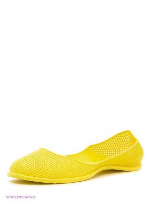 Балетки Алми. Цвет: желтый
