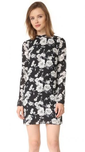 Мини-платье с цветочным рисунком Ali & Jay. Цвет: черный цветочный рисунок