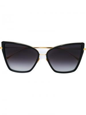 Солнцезащитные очки в оправе кошачий глаз Dita Eyewear. Цвет: чёрный