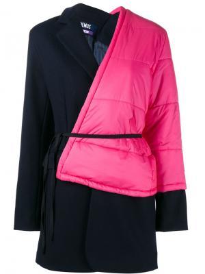 Пальто в стиле колор-блок Jacquemus. Цвет: синий