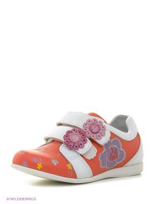 Ботинки KENKA. Цвет: оранжевый, белый