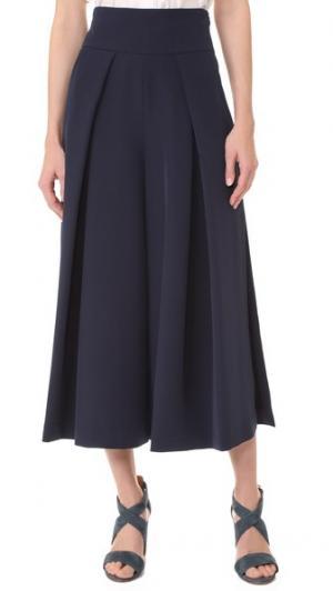 Укороченная юбка-брюки Cady с разрезами Milly. Цвет: темно-синий