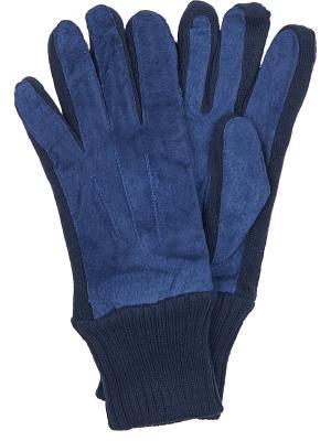 Перчатки Malgrado. Цвет: синий
