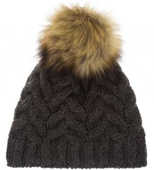 Трикотажная вязаная шапка с помпоном CANADIAN. Цвет: серый