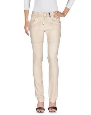 Джинсовые брюки HIGH. Цвет: бежевый