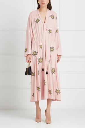 Платье с вышивкой Inshade. Цвет: розовый