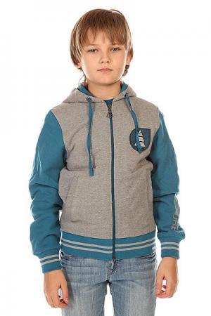 Толстовка классическая детская  Basemen Us Sweat Grey Melange Picture Organic. Цвет: серый,синий