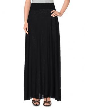 Длинная юбка BASE. Цвет: черный