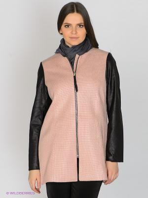 Пальто JUNAROSE. Цвет: бледно-розовый