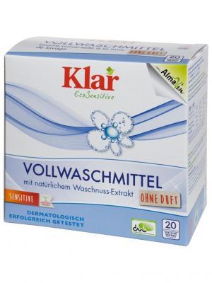 Klar Гипоаллергенный Стиральный Порошок На Мыльном Орехе Для Белого И Прочноокрашенного Белья 1,1 КГ. Цвет: белый
