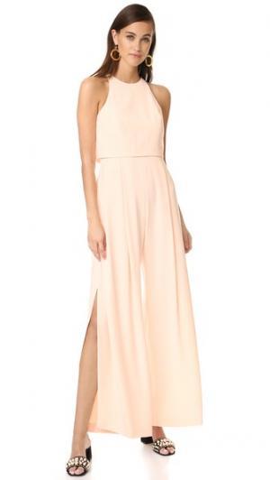 Комбинезон без рукавов с высоким воротником Jill Stuart. Цвет: розовый телесный