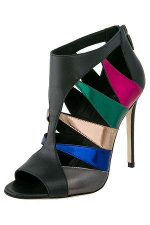 Heeled sandals Grey Mer. Цвет: black, multicolor
