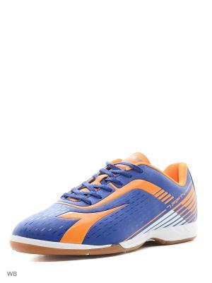 Бутсы DIADORA. Цвет: синий, оранжевый