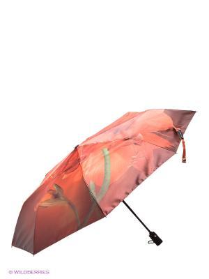 Зонт Flioraj. Цвет: оранжевый, коричневый