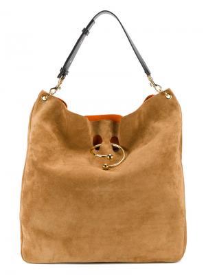 Большая сумка-тоут Pierce J.W.Anderson. Цвет: коричневый