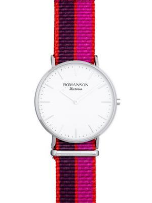 Часы TL6A30UU Romanson. Цвет: серебристый, малиновый