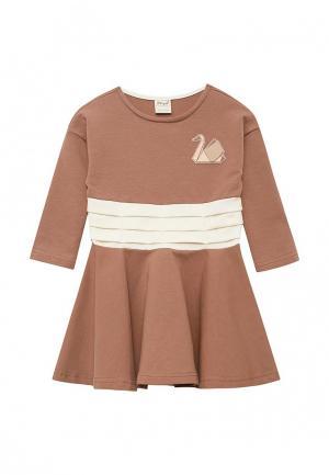 Платье Ёмаё. Цвет: коричневый