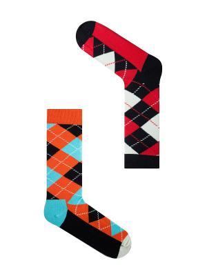 Набор Доктор Ватсон (2 пары в коробке), дизайнерские носки SOXshop. Цвет: черный, голубой, красный, оранжевый