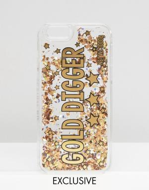 Skinnydip Чехол для iPhone 6/6s с блестками Gold Digger. Цвет: мульти