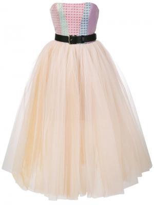 Пышное платье без бретелек Natasha Zinko. Цвет: многоцветный