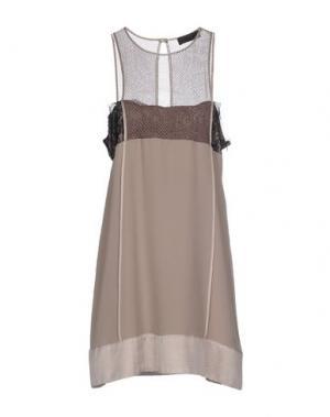 Короткое платье JO NO FUI. Цвет: хаки