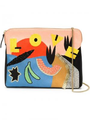 Клатч Safari Lizzie Fortunato Jewels. Цвет: многоцветный