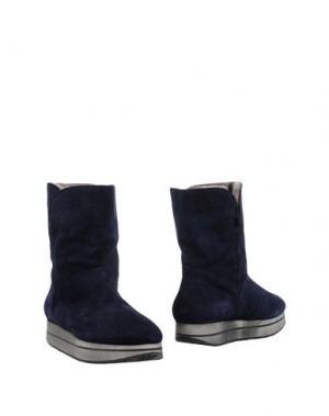 Полусапоги и высокие ботинки D'ACQUASPARTA. Цвет: темно-синий