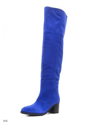 Ботфорты La Gatta. Цвет: светло-голубой