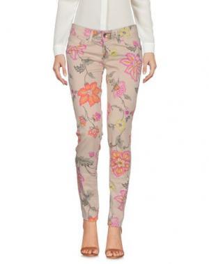 Повседневные брюки XTSY. Цвет: песочный