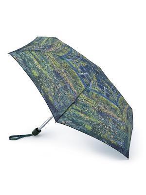 Зонт женский механика Fulton. Цвет: зеленый