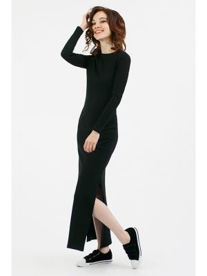 Платье с разрезами уголь (KW4) (One-size (42-46)) MONOROOM