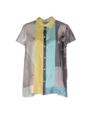 Pубашка GENTRYPORTOFINO. Цвет: кислотно-зеленый