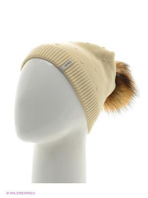 Шишка Беркле шапка женская с помпоном Berkle. Цвет: светло-бежевый