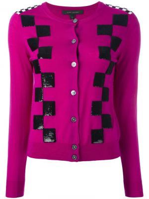 Кардиган в клетку Marc Jacobs. Цвет: розовый и фиолетовый