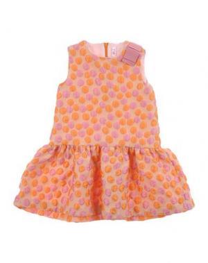 Платье IL GUFO. Цвет: оранжевый