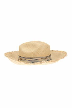 Соломенная шляпа Clasico Brisa Fringes Artesano. Цвет: кремовый, голубой