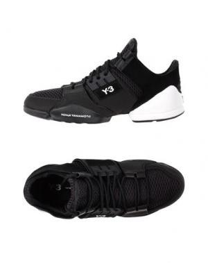 Низкие кеды и кроссовки Y-3. Цвет: черный