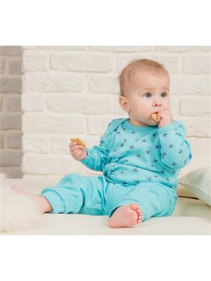 Пижама Веселый малыш. Цвет: бирюзовый, светло-серый