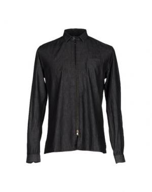 Джинсовая рубашка DAVID NAMAN. Цвет: черный