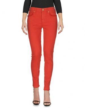 Джинсовые брюки TRUE RELIGION. Цвет: красный