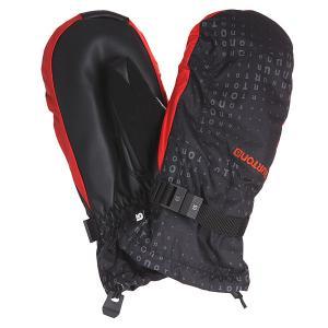 Варежки сноубордические  Profile Mtt True Black Burton. Цвет: черный,красный
